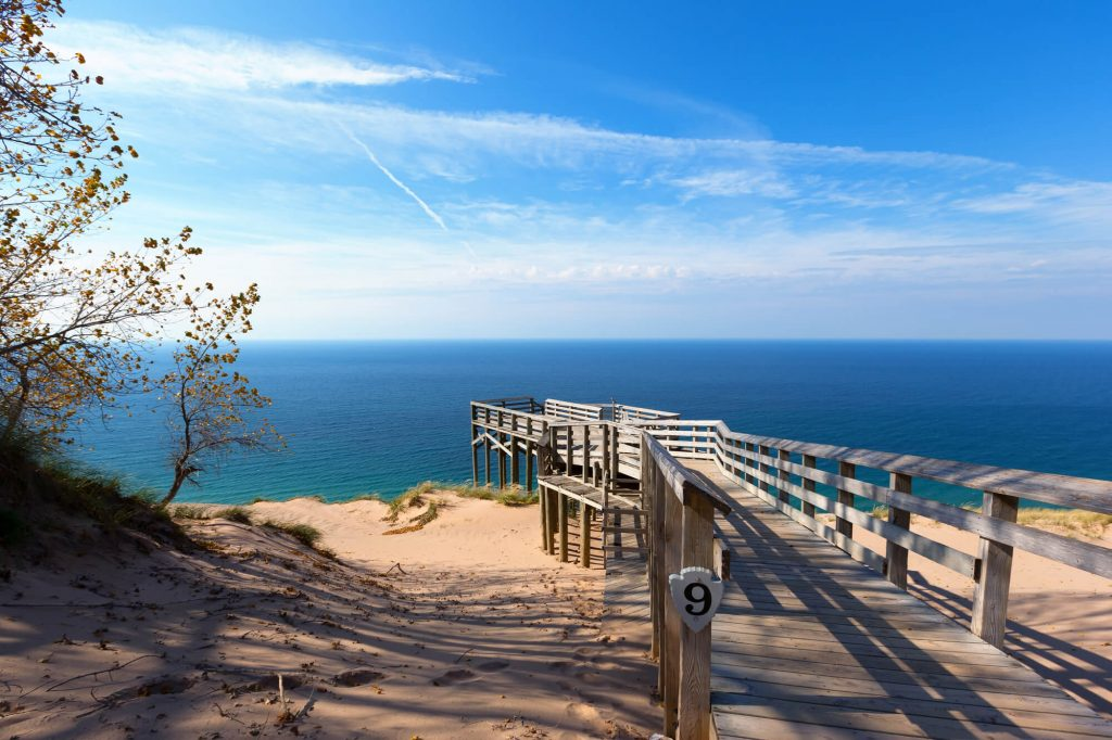 Boardwalk to Lake Michigan