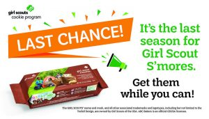 Last chance banner for S'more cookie